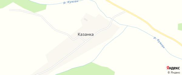 Центральная улица на карте поселка Казанки с номерами домов