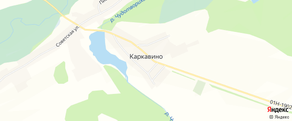 Карта села Каркавино в Алтайском крае с улицами и номерами домов