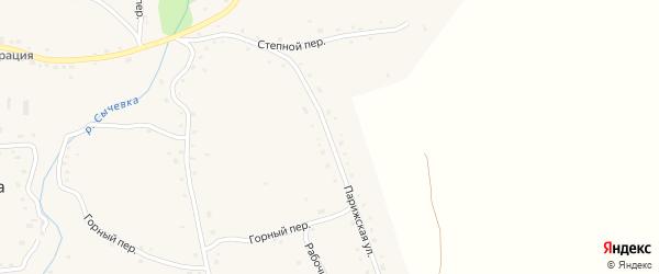 Парижская улица на карте села Сычевки с номерами домов