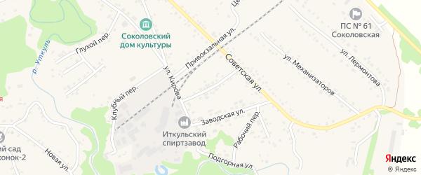 Короткий переулок на карте села Соколово с номерами домов