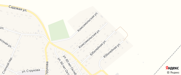 Комсомольская улица на карте села Соколово с номерами домов