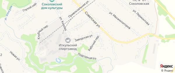 Заводская улица на карте села Соколово с номерами домов