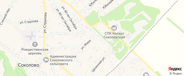 Улица Мира на карте села Соколово с номерами домов