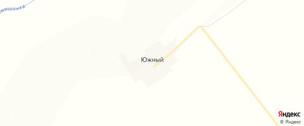 Карта Южного поселка в Алтайском крае с улицами и номерами домов