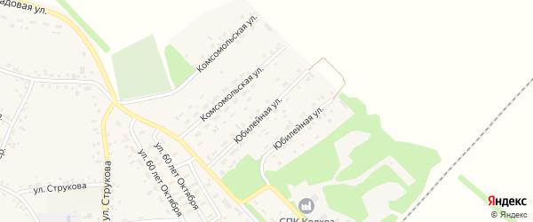 Юбилейная улица на карте села Соколово с номерами домов