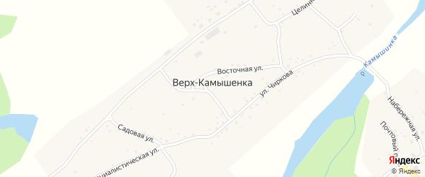 Целинная улица на карте села Верха-Камышенки с номерами домов