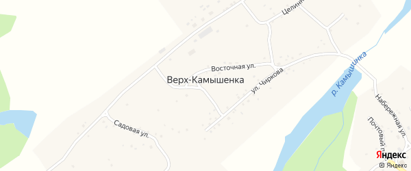 Солнечная улица на карте села Верха-Камышенки с номерами домов