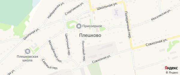 Спортивная улица на карте села Плешково с номерами домов