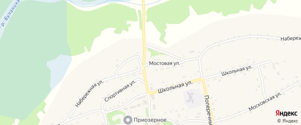 Мостовая улица на карте села Плешково с номерами домов