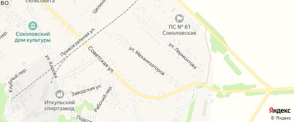 Улица Механизаторов на карте села Соколово с номерами домов
