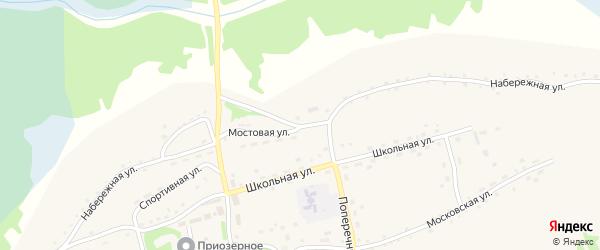 Набережная улица на карте территории сдт Железнодорожника с номерами домов