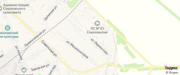 Улица Лермонтова на карте села Соколово с номерами домов