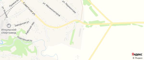Полевая улица на карте территории сдт Железнодорожника с номерами домов