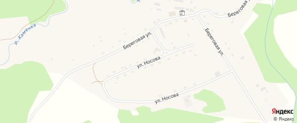 Улица Носова на карте села Пещерки с номерами домов