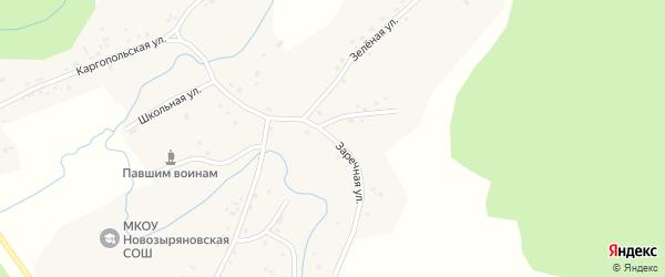 Заречная улица на карте села Гоношихи с номерами домов
