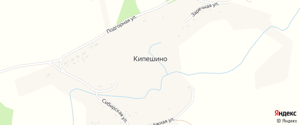 Сибирская улица на карте села Кипешино с номерами домов
