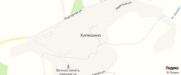 Подгорная улица на карте села Кипешино с номерами домов