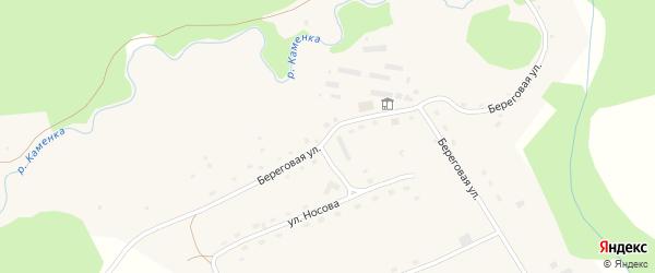 Береговая улица на карте села Пещерки с номерами домов