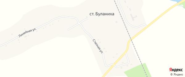 Степная улица на карте станции Буланихи с номерами домов