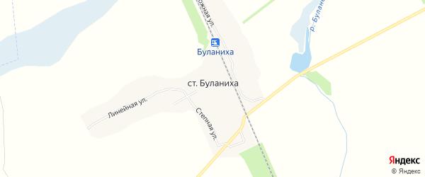 Карта станции Буланихи в Алтайском крае с улицами и номерами домов