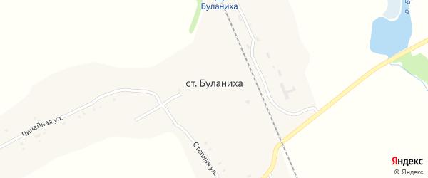 Линейная улица на карте станции Буланихи с номерами домов