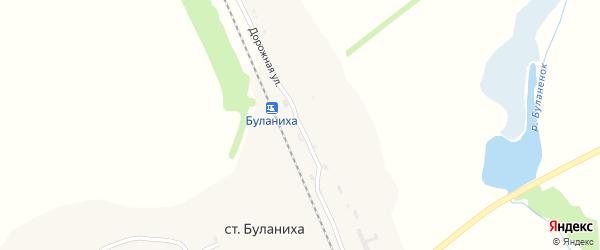 Дорожная улица на карте станции Буланихи с номерами домов