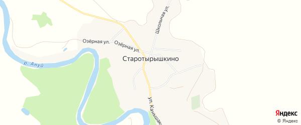 Карта села Старотырышкино в Алтайском крае с улицами и номерами домов