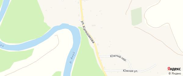 Улица Каньшакова на карте села Старотырышкино с номерами домов