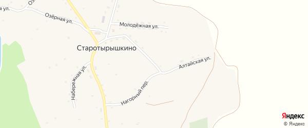 Алтайская улица на карте села Старотырышкино с номерами домов