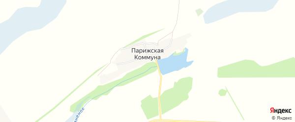 Карта поселка Парижская Коммуна в Алтайском крае с улицами и номерами домов