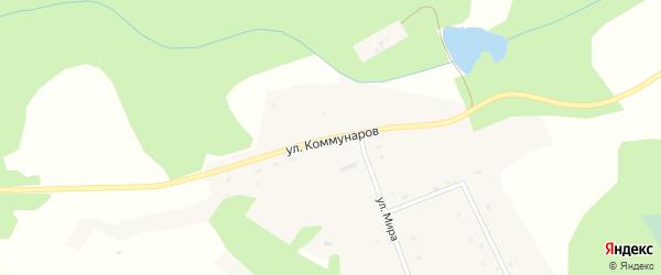 Улица Коммунаров на карте поселка Пролетарской Крепости с номерами домов