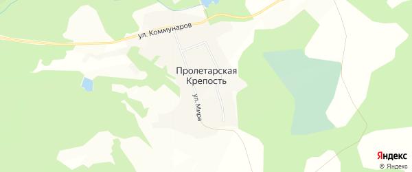 Карта поселка Пролетарской Крепости в Алтайском крае с улицами и номерами домов