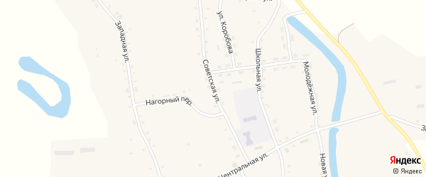 Советская улица на карте Ануйского села с номерами домов