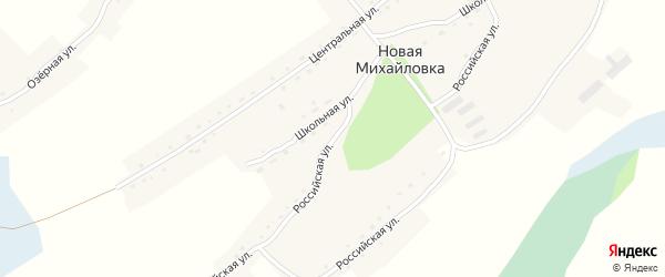 Российская улица на карте села Новой Михайловки с номерами домов