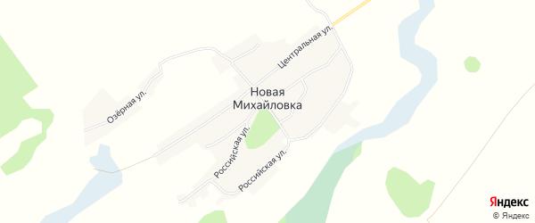 Карта села Новой Михайловки в Алтайском крае с улицами и номерами домов
