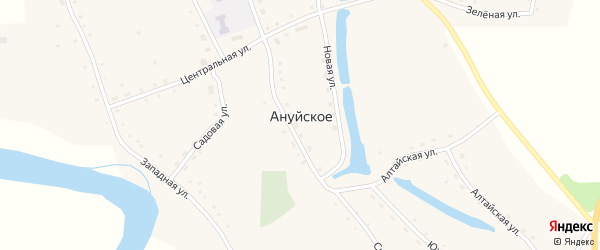 Улица Коробова на карте Ануйского села с номерами домов