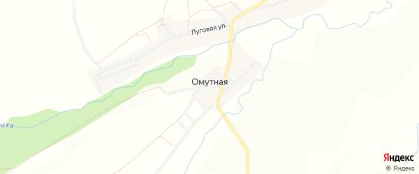 Карта поселка Омутной в Алтайском крае с улицами и номерами домов