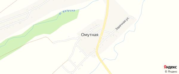 Заречная улица на карте поселка Омутной с номерами домов