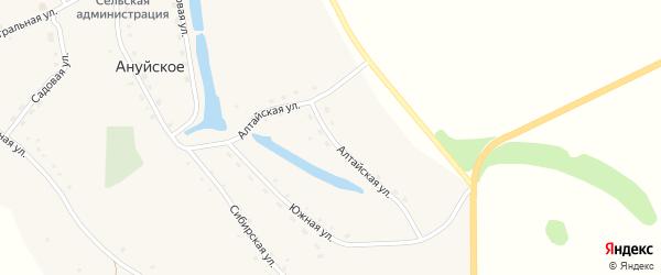 Алтайская улица на карте Ануйского села с номерами домов
