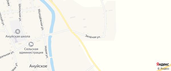Зеленая улица на карте Ануйского села с номерами домов