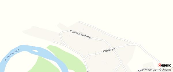 Камчатский переулок на карте Песчаного села с номерами домов