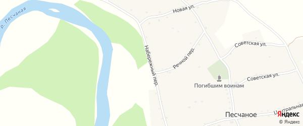 Набережный переулок на карте Песчаного села с номерами домов
