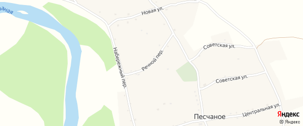 Речной переулок на карте Песчаного села с номерами домов