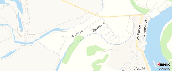 Территория ДНТ Ясная поляна на карте Улан-Удэ с номерами домов