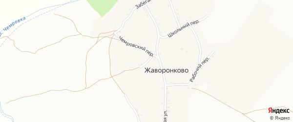 Тихий переулок на карте села Жаворонково с номерами домов