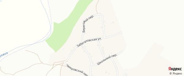 Забегаловская улица на карте села Жаворонково с номерами домов