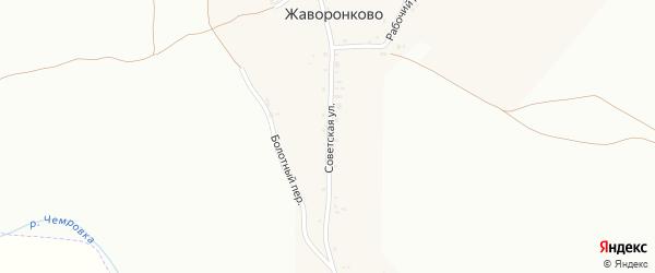 Советская улица на карте села Жаворонково с номерами домов