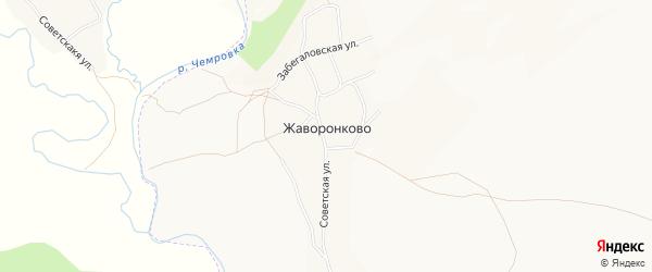Карта села Жаворонково города Бийска в Алтайском крае с улицами и номерами домов