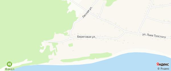 Береговая улица на карте Фоминского села с номерами домов