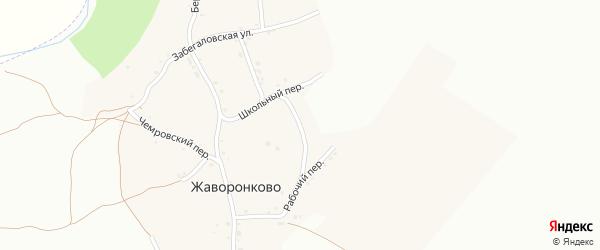 Полевая улица на карте села Жаворонково с номерами домов